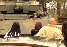 Spritztour mit dem Panzer